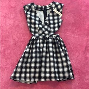 Mustard Seed Black and White Mini Dress NWT Small